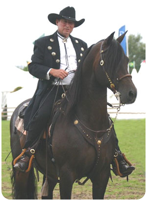 Eitan and Santa Fe Renegade at the World Equestrian Games in Aachen, Germany 2006